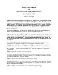 3-1-1 IVR RFI Vendor Q & A
