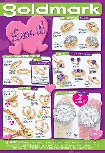 Bridal Sets Gifts the Birthstone of February Fossil Watches Diamond ...