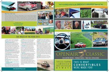 tour brochure - OpenAir Tours!