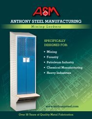 Download Catalogue of Mining Locker - Anthony Steel Manufacturing