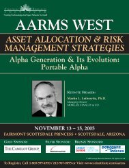 asset allocation & risk management strategies - ALM Events