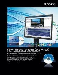 Sony Blu-code™ Encoder (BAE-VX1000)