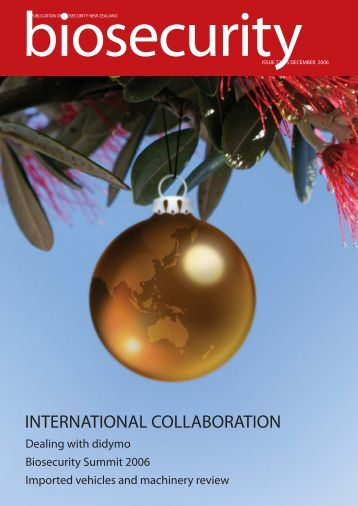 Biosecurity issue 72 - Biosecurity New Zealand