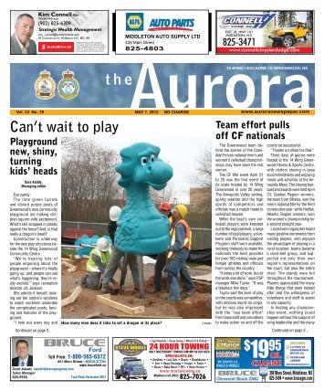 May 7 2012 - The Aurora Newspaper
