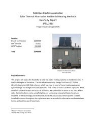 Kotzebue Electric Association Solar Thermal Alternative Residential ...