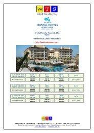 Crystal Family Resort Spa fiyat listesi için tıklayınız