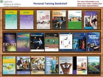Personal Training Bookshelf