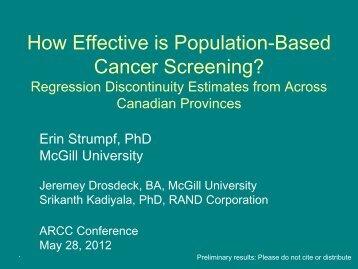 Dr. Erin Strumpf - CC-ARCC