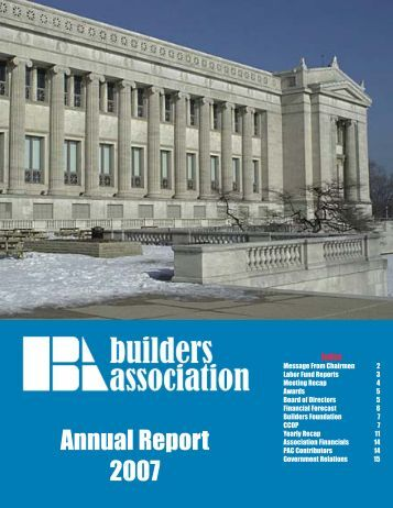 Annual Report.indd - Builders Association