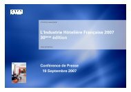Consultez l'étude de KPMG sur l'hôtellerie française