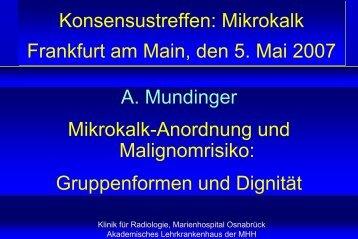 A. Mundinger Mikrokalk-Anordnung und Malignomrisiko ...