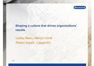 Shaping a culture that drives organisations' results ... - Mercuri Urval