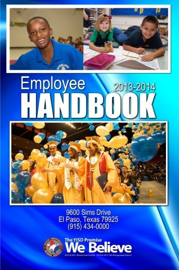YISD Employee Handbook - Ysleta Independent School District
