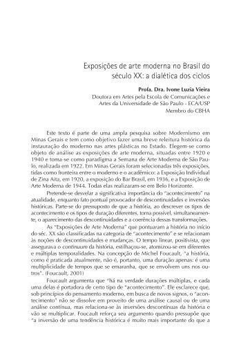 Exposições de arte moderna no Brasil do século XX - CBHA