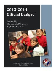 Adopted Budget - June 19, 2013 - Ysleta Independent School District