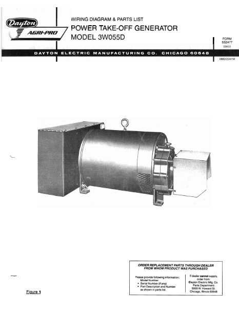 3W055D Parts List and Wiring Diagram - Winco Generators on