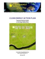 Clean Energy Action Plan – Towards 50/50 by 2020 in the Bega ...