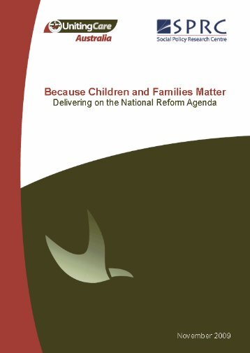 Because children and families matter - Social Policy Research ...
