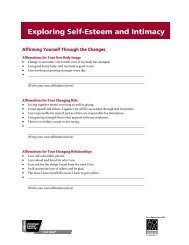SESSION 6: Exploring Self Esteem and Intimacy