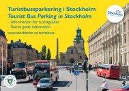Turistbussparkering i Stockholm Tourist Bus Parking in Stockholm