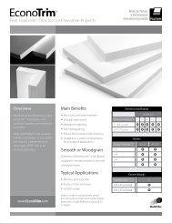 Sales Sheet/Comparison Table - EconoTrim