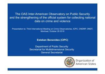 Esteban Benavides - International Centre for the Prevention of Crime