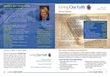 Living Our Faith Newsletter - Portsmouth People