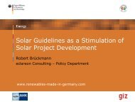 Solar guidelines as a stimulation of solar project development