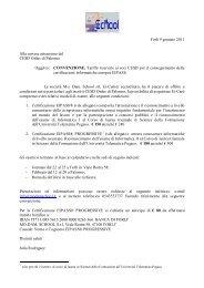 Forlì 9 gennaio 2011 Alla cortese attenzione del ... - Cesd-onlus.com