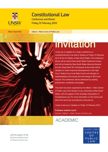 Academic - Gilbert + Tobin Centre of Public Law