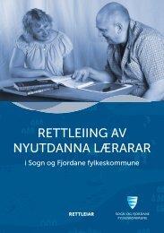 rettleiing av nyutdanna lærarar - Sogn og Fjordane fylkeskommune