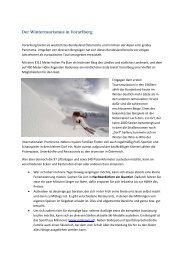 Der Wintertourismus in Vorarlberg