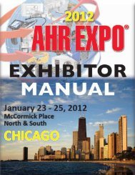Exhibitor manual - AHR Expo
