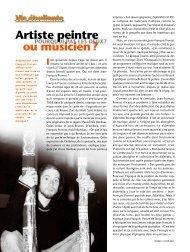 Artiste peintre ou musicien? - Université du Québec