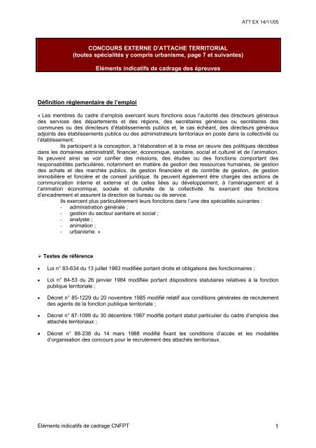 b9cf0fa03ba CONCOURS EXTERNE D ATTACHE TERRITORIAL - Canalblog