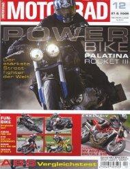 Zeitung MOTORRAD (27.05.2005) Power Bike Palatina Rocket