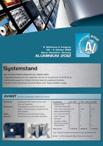 ALU Fact Sheet Systemstand_D:Layout 1 - Aluminium 2012