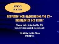 Graviditet och äggdonation vid TS – möjligheter och risker - SFOG