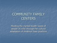 COMMUNITY FAMILY CENTERS - Hogg Foundation for Mental Health
