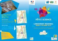 carton d'invitation - Science Action Haute-Normandie