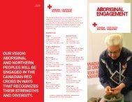 Aboriginal Engagement - Canadian Red Cross