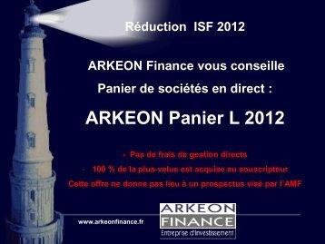 ARKEON Panier L 2012 - Haussmann Patrimoine