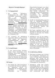 Allgemeinen Nutzungsbedingungen - MyHandicap