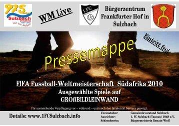 Sulzbacher Anzeiger - 1. FC Sulzbach