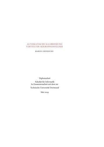 Automatische Kalibrierung verteilter Mikrophonfelder - Gernot A. Fink