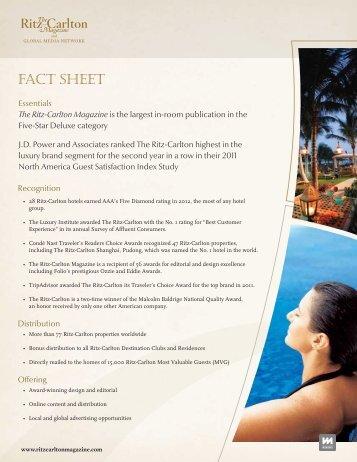 Fact Sheet - Luxury Advertising Network