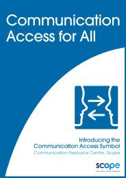 Communication Access for All booklet - Disability Advocacy ...
