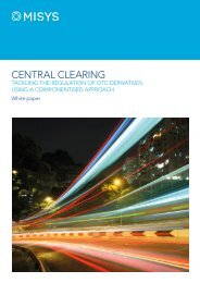 Central clearing Whitepaper  - Misys
