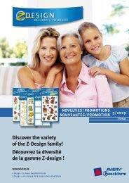 Découvrez la diversité de la gamme Z-design - Avery
