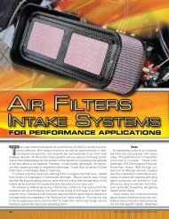 Performance Racing Industry Magazine - Precision Filtration Products